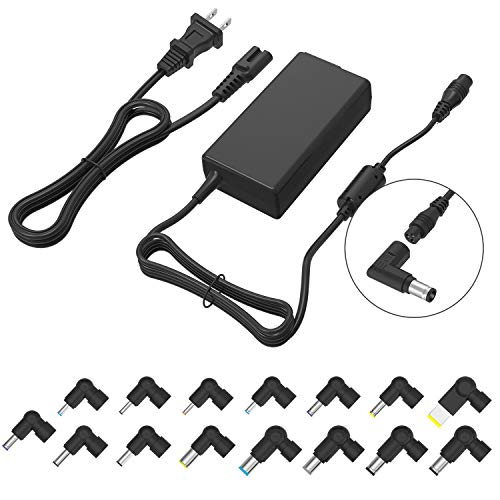 Multi Tips Slim AC Power Adapter 70W Universal Portable Laptop Charger for Asus Vivobook, Acer Aspire, Dell Inspiron, HP Pavilion, Lenovo Toshiba Sony IBM Samsung Laptops (Automatic Voltage, 15 Tips) 9