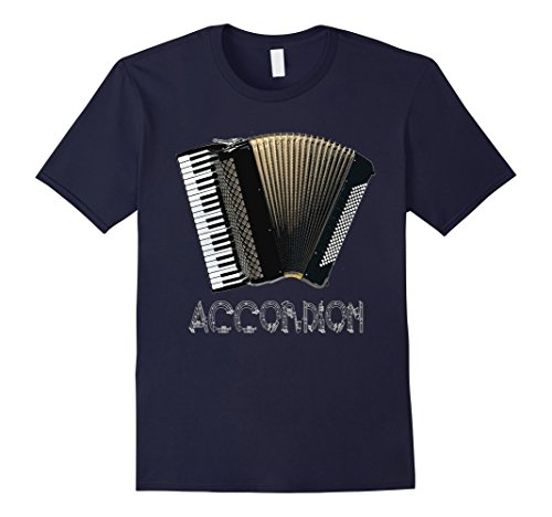 Men's Accordion T-Shirt Music Musical Instrument Organ Gr...