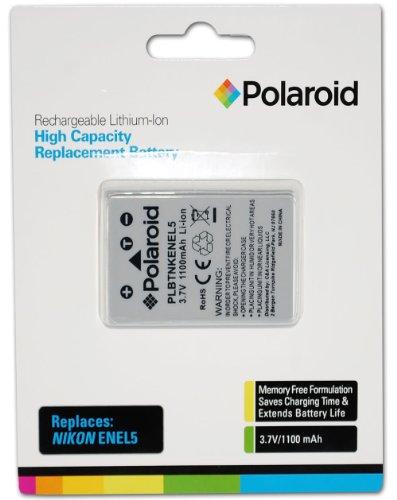 Polaroid High Capacity Nikon EN-EL5 Rechargeable Lithium Replacement Battery (Compatible With: Coolpix P500, P100, P80, P90, P5000, P5100, P6000, S10, P3, P4, 7900, 5900, 4200, 5200, 3700)