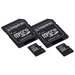 Samsung SM-G900M Cell Phone Memory Card 2 x 4GB microSDHC Memory Card with SD Adapter (2 Pack)