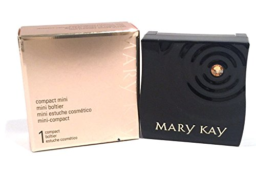 MARY KAY~LIMITED EDITION~MINI MAGNETIC BLACK COMPACT~UNFILLED~FITS 6 EYE SHADOWS by New