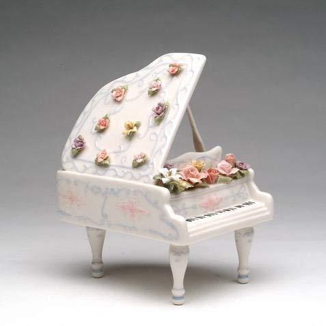 【WEB限定】 グランド ピアノ グランド w/フラワー 陶磁器製 w/フラワー オルゴール オルゴール B07M9TZ2SF, ブエングスト:b42fe8ad --- arcego.dominiotemporario.com