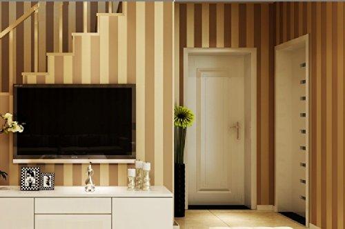 QIHANG European Modern Minimalist Country Luxury Stripe Wallpaper Roll for Living Room Bedroom Tv Backdrop Brown Color by QIHANG (Image #2)