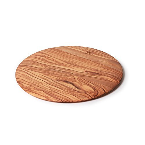- Berard Olive-Wood Handcrafted Round Cutting Board