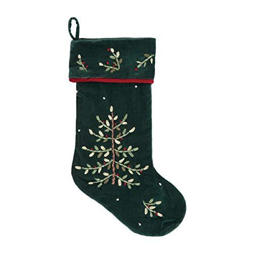 Green Velvet Christmas Stocking - C&F Home Christmas Tree Ribbon Stocking Green