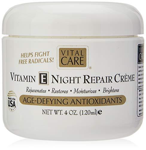 Vital Care Vitamin E Night Repair Creme Age-defying Antioxidants 4 Oz.