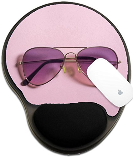 Luxlady Mousepad wrist protected Mouse Pads/Mat with wrist support design IMAGE ID: 34657978 Pink aviator - Aviator Price Sunglasses