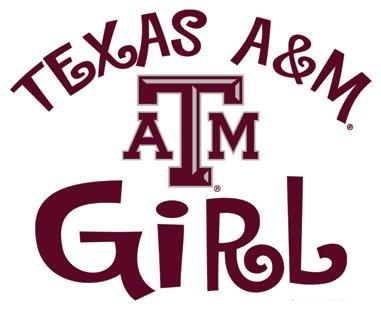 Texas A&M Aggies TEXAS A&M GIRL Clear Vinyl Decal Car Truck Sticker aTm TAM