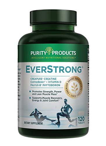 EverStrong Muscle Matrix Blend | Creapure Creatine | Boron (FruiteX B PhytoBoron) | CoffeeBerry Extract | Boosted with 1000 IU Vitamin D 120 Tablets from Purity Products
