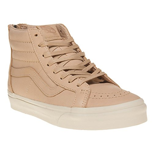 055fc563c1 Galleon - Vans Unisex Sk8-Hi Zip DX (Veggie Tan Leather) Tan 7.5 Women   6  Men M US