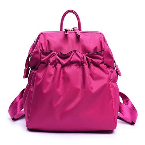 Bolso Ligero color Pink Impermeable Mujeres Green Hombro Fold Mochila Hungrybubble Las Oxford De Tela P5wfYwqnR