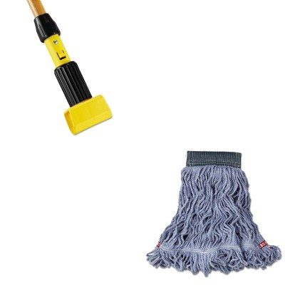 KITRCPA152BLURCPH216 - Value Kit - Rubbermaid Web Foot Wet Mop (RCPA152BLU) and Rubbermaid-Gripper Wet Mop Handle (RCPH216) by Rubbermaid
