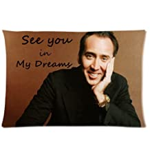 "Welcome!! Personalized Custom Nicolas Cage Dreams with You One Side Printed for 20""X30"" Inch Pillow Case Cover"