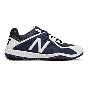 New Balance Men's T4040v4 Turf Baseball Shoe, Navy/White, 10 D US