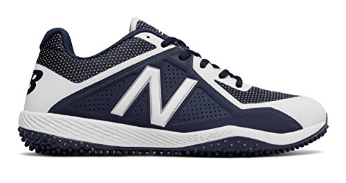 New Balance Men's T4040v4 Turf Baseball Shoe, Navy/White, 11.5 D US