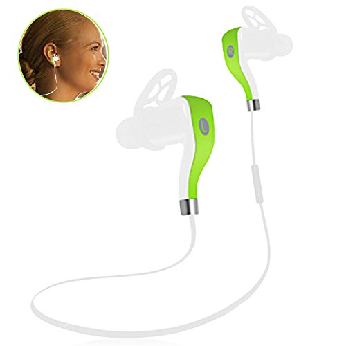 Duo Stereo Headset (Bluetooth Running Headphones,Sports Portable Wireless Headsets HD Stereo Earphones Sweatproof Earbuds with Long Battery Life for Gym Workout iPhone 7 Plus/7/6S Plus/6s/6/5s/5c/4s Samsung S8 Plus/S7)