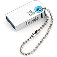 TRUSDA Flash Drive 64GB Metal Case USB 3.0 Thumb Drive High Speed Memory Stick Keychain Waterproof Shockproof U85