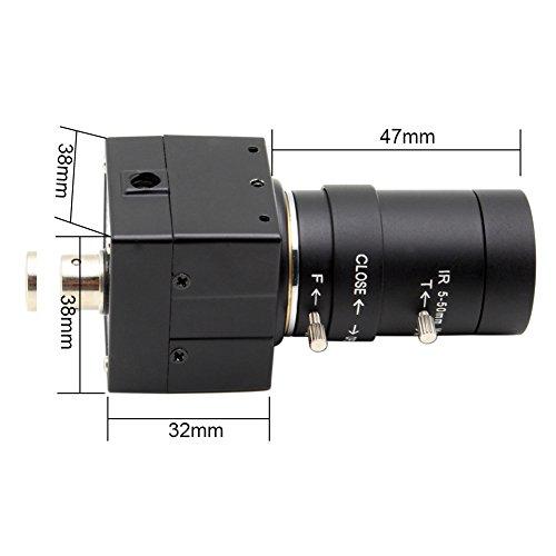 SVPRO USB camera 5-50mm varifocal zoom lens 1280720 USB2.0 OV9712 Security System CCTV Surveillance machine vision camera(USB100W03M-SFV) by SVPRO (Image #3)