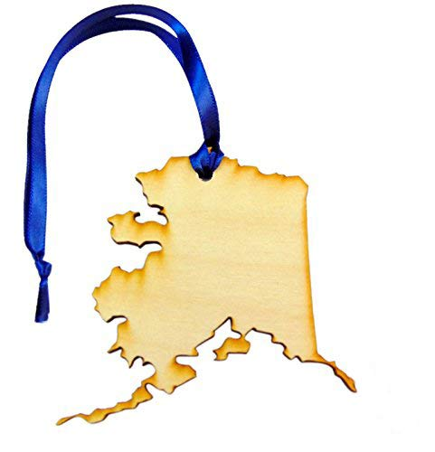 Westman Works State of Alaska Wooden Christmas Ornament Boxed Gift Handmade in The U.S.A. (Ornament Christmas Alaska)
