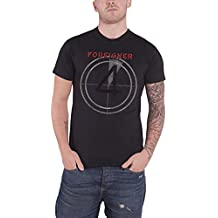 Foreigner T Shirt Distressed 4 Album Cover Official Mens Charcoal Grey