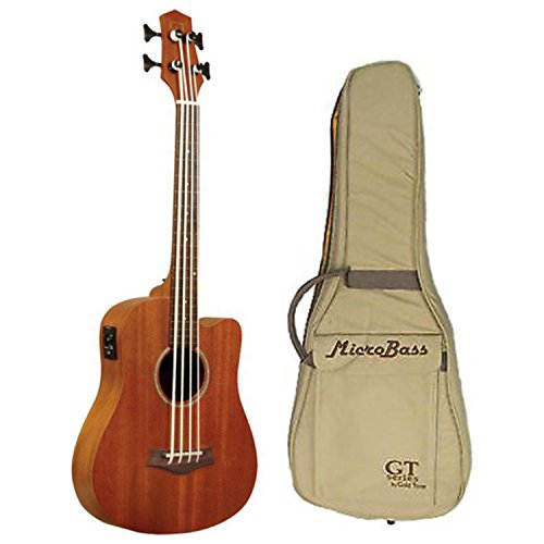 Goldtone M Bass Microbass Fretless Short-Scaled Acoustic Electric Bass w/Bag - Acoustic Electric Fretless Bass Guitar