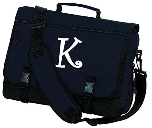 - Personalized Laptop Bag Monogrammed Messenger Bag Navy