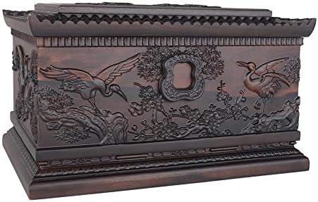 灰大人の骨壷 人間の灰のための壺 - ダブル人々キープセイクス壺墓地の埋葬や家財道具(ローズウッド850 Cu.In)に適し BUYT