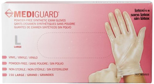 Medline Mediguard Powder Free Vinyl Large