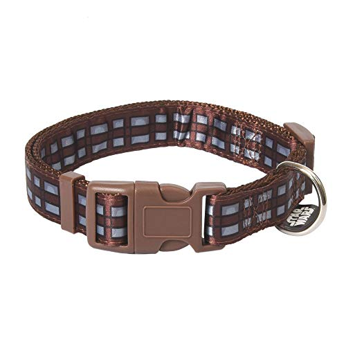 Star Wars Chewbacca Medium Dog Collar   Brown and Black Medium Size Dog Collar   Dog Collar for Medium Dogs with D-Ring, Cute Dog Apparel & Accessories for Pets