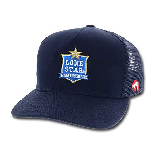 HOOey Lone Star Beer Patch Adjustable Snapback Hat (Navy)