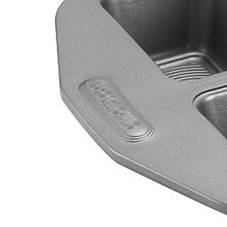 Circulon Nonstick Bakeware 6-Cup Mini Loaf Pan, Gray