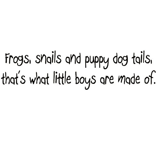 Frogs Snails and Puppy Dog Tails, That's What Little Boys Are Made Of Large Nursery Wall Decals Vinyl Wall Quote Nursery Wall Decor Boys (Nursery Rhymes Frogs)