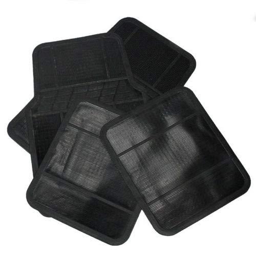 Leiva Set 4 Pezzi tappetini per Auto Universali 43 x 70 cm in Gomma Antiscivolo Chiodato Nero
