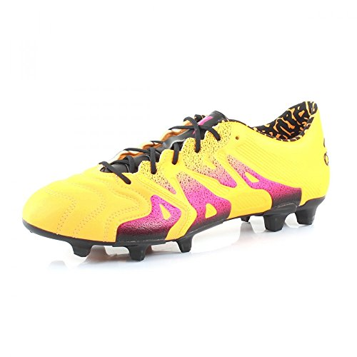 adidas X 15.1 FG/AG Leather, Scarpe da Calcio Uomo Arancione