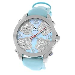 Five Time Zone JC-MATH14 Steel MOP Diamond Watch