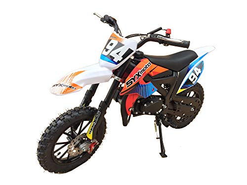 2019 SYX Kids Dirt Bike, Mini-Motorcycle, 50 cc 2-stroke, gas powered Red