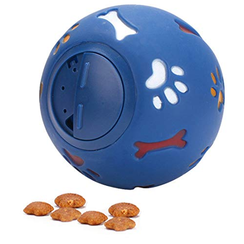 Flaqurily Treat Ball,Snack Ball for Guinea Pigs,Ferret,Rat,Rabbits,Hedgehogs and Other Small Aminals (Blue)