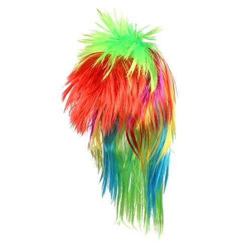 Musykrafties 80s Punk Rainbow Mullet Wig Funky Punk 21-inch -