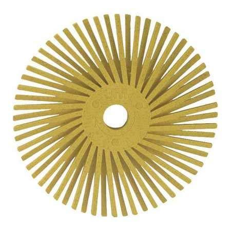 Radial Bristle Disc, TA, 3 in Dia, 80G, PK40