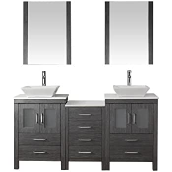 Virtu USA KD 70066 S ZG Modern 66 Inch Double Sink Bathroom