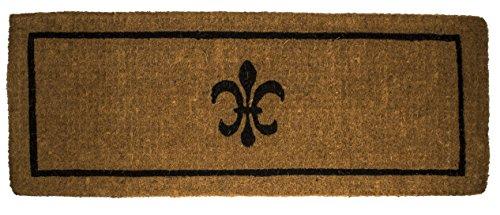 - Black Fleur Di Lys Extra Thick Hand Made Coir Doormat 18