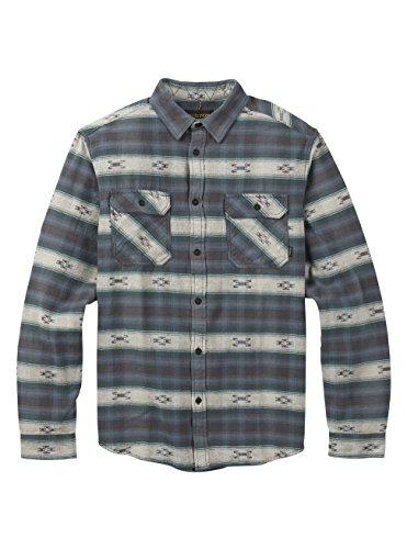 - Burton Men's Brighton Burly Flannel Top, La Sky Azrek, Medium