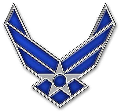 Metal Lapel Pin - US Air Force Pin & Emblem - US Air Force Wings II Logo ()