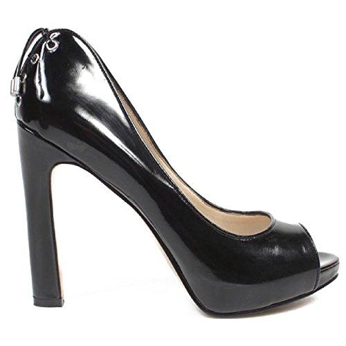 NINE WEST - Zapatos De Tacón Mujer - Pump Punta Abierta NWHEARTACHE BLACK Tacón: 12.5 cm