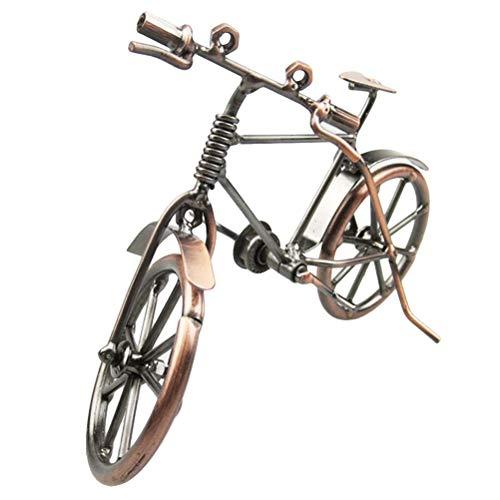 ysister Modelo de Bicicleta de Metal, Bicicleta Decorativa, Arte de Hierro Vintage, Modelo de Bicicleta, coleccion de Escultura de Viaje, pequeno Regalo para Ciclista (19 * 6.5 * 12 cm)