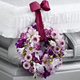 Thoughts & Prayers Wreath Adornment - Fresh Flowers Hand Delivered in Albuquerque Area