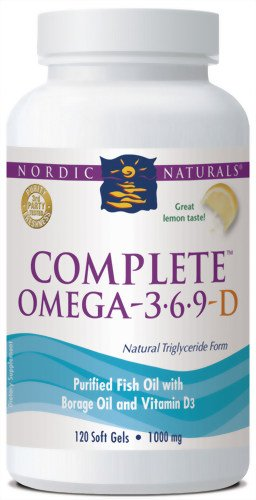 Nordic Naturals Complete Omega 3-6-9 with D Soft Gels, 1000 mg, 120-Count Bottle, Health Care Stuffs