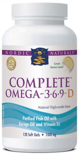 Nordic Naturals Omega 3-6-9 complètes avec les gels mous D, 1000 mg, 120-Count Bottle
