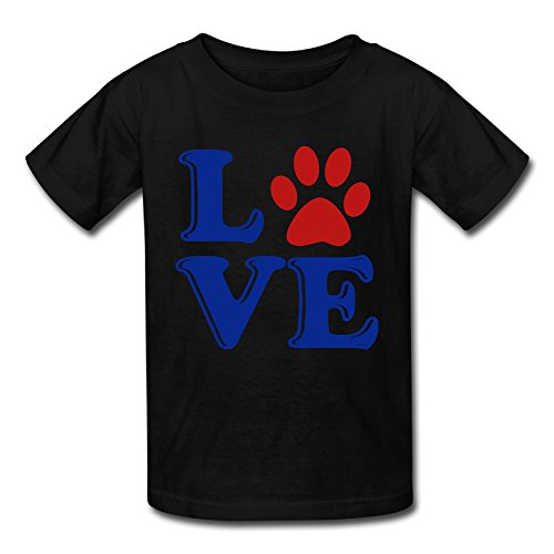 Price comparison product image NYCOPI MICJP Boy' Girls' Love My Dog Clothes Summer Short-Sleeve Cotton Tee Shirts 12 Months