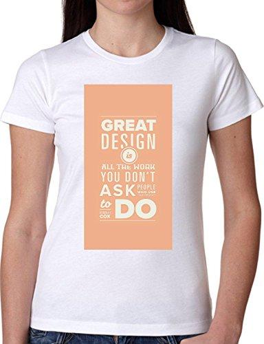 T SHIRT JODE GIRL GGG22 Z1335 GREAT DESIGN DONT ASK WHAT TO DO FUN FASHION COOL BIANCA - WHITE S